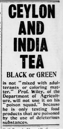 Ad for Ceylon and India Tea (from the New York Tribune)