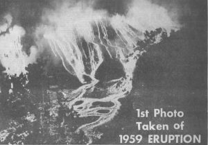 1959 Kilauea Eruption (from the Honolulu Advertiser)
