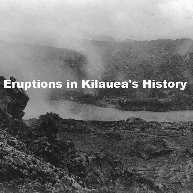 Eruptions in Kilauea's History