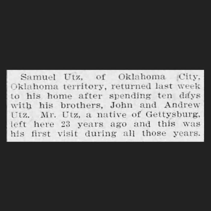 (Adams County Independent, 09.27.1902, via Newspapers.com)