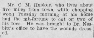 (From the Gaffney Ledger, 03.27.1908)