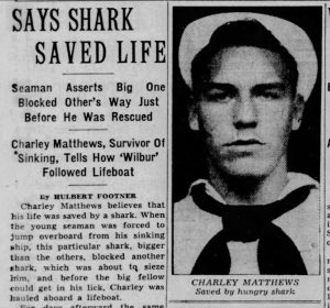 """Says Shark Saved Life"" (The Sun, 02.09.1943)"
