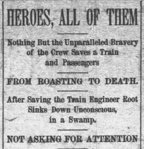 Wildfire Rescue. The Daily Independent, 09.4.1894