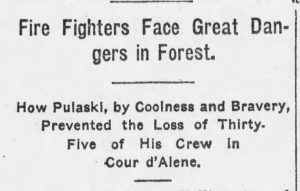 Wildfire Rescue. The Coldwater Talisman, 10.23.1912