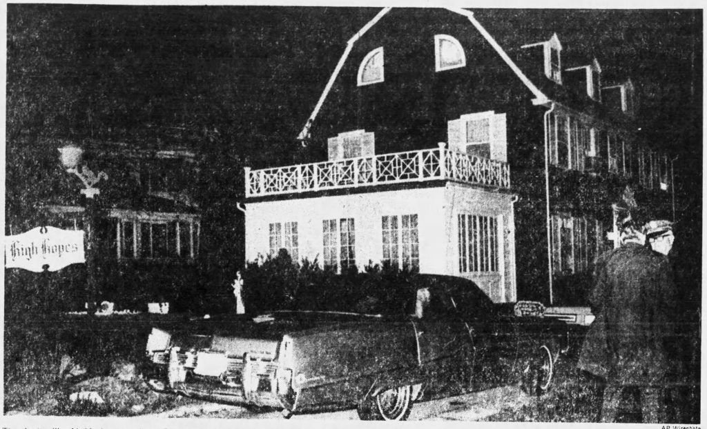 The original home the Lutz and DeFeo families resided in. Chicago Tribune, July 25, 1976