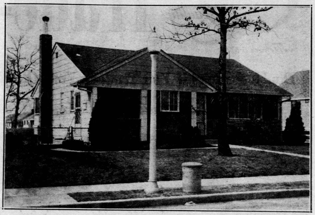 A picture of the Hermann home, taken from The Daily News, March 09, 1958