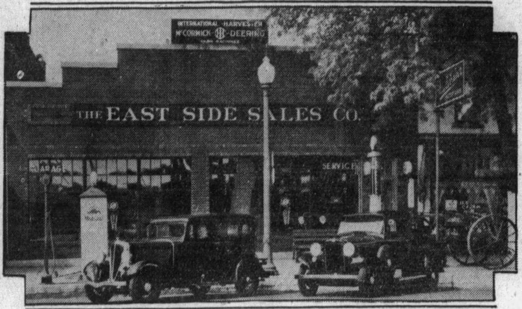 A business in Fremont, Ohio, in 1933. (Fremont Messenger, 09.18.1933)
