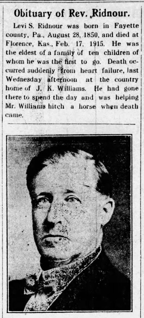 Example of an obituary with a photo included [Florence Bulletin, 02.25.1915]