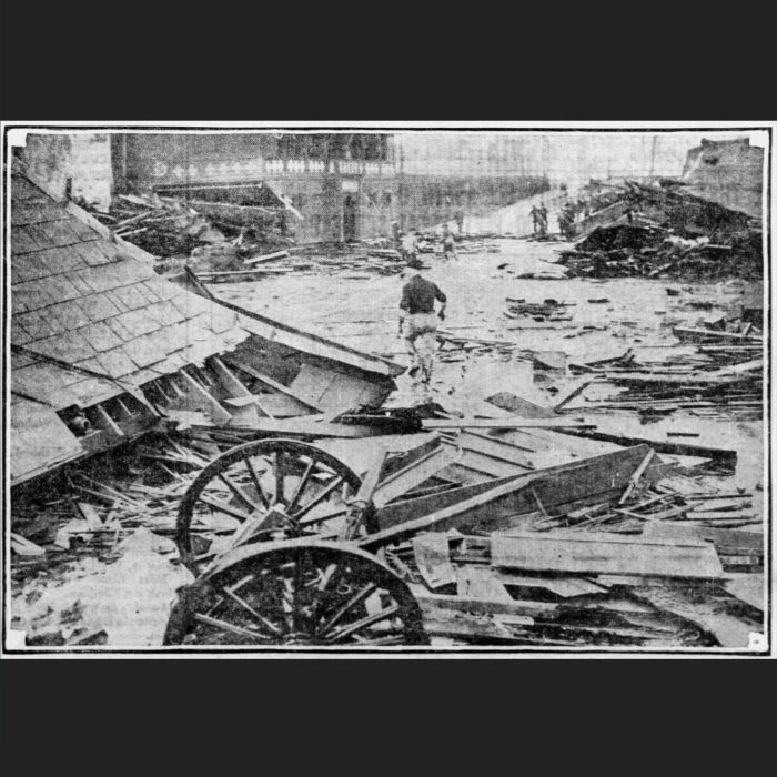 Boston's destructive molasses flood leaves destruction in its wake