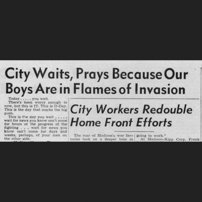 Wisconsin State Journal, 06.06.1944
