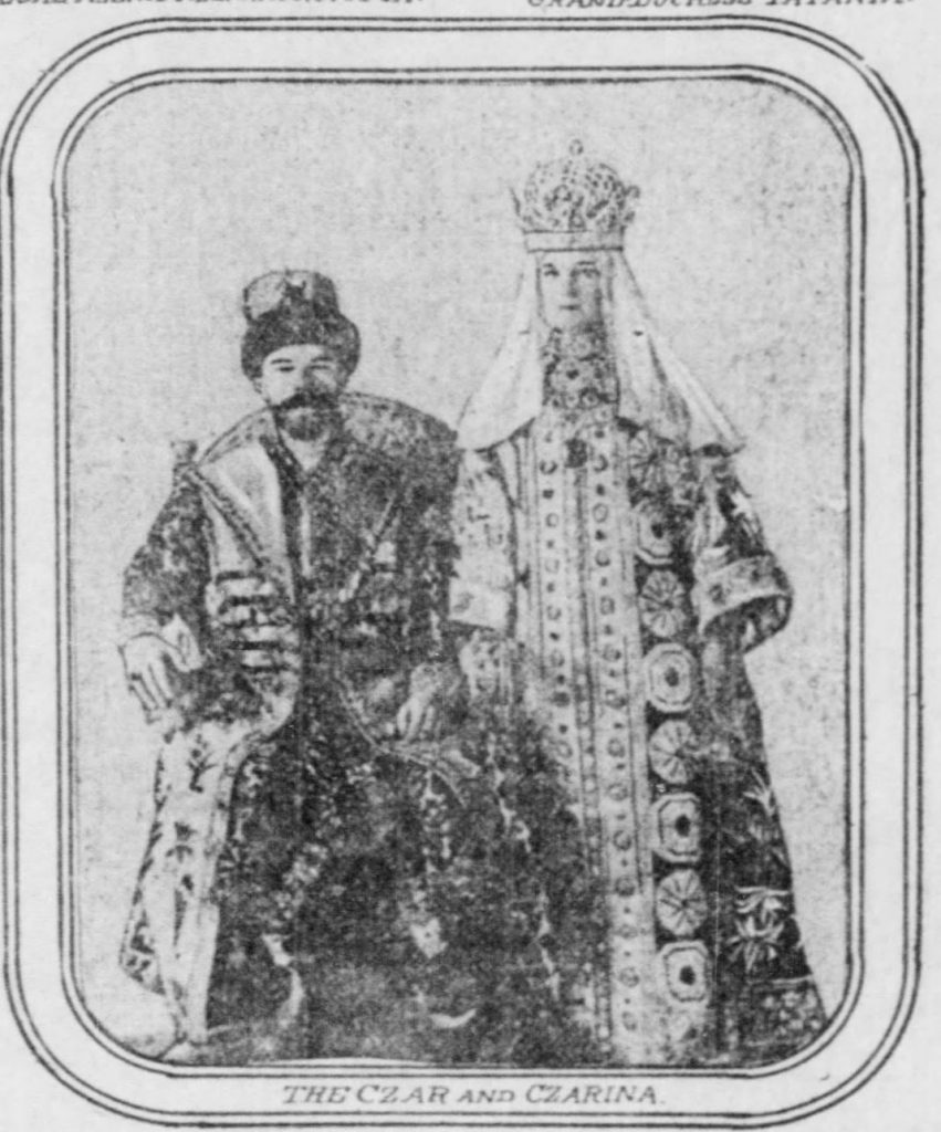 Nicholas II and Alexandra (The Pittsburgh Post, 11.26.1905