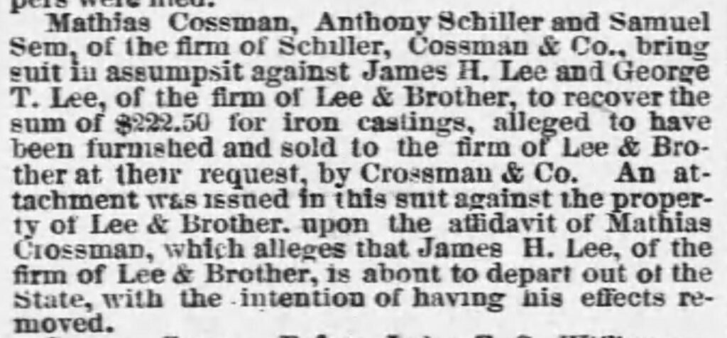 News from an ancestor's childhood about his father and uncle (Chicago Tribune, 11.09.1865)