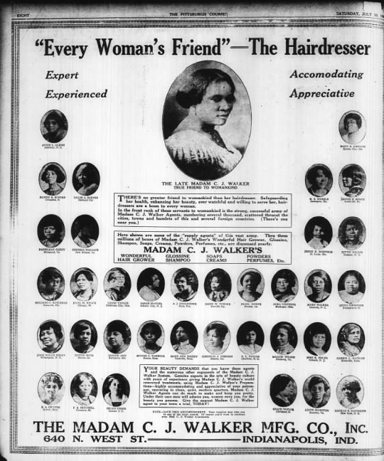 Madam C J Walker America S First African American Female Millionaire Fishwrap The Official Blog Of Newspapers Com