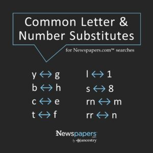 Common letter & number substitutes
